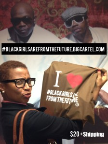 Renina being silly @ TV One, promoting the #Blackgirlsarefromthefuture brand.